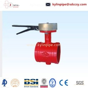 XD81X-10/16Q handle signal groove butterfly valve