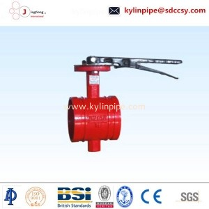 D81X-10/16Q handle grooved butterfly valve