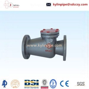 H44T-10/16 long body flange swing check valve